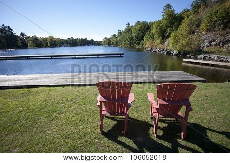 Port Carling Muskoka Canada lake and docks