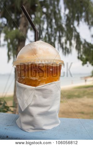 Tea Chill Scenic Beach Relax Drink Cup Of Tea Concept