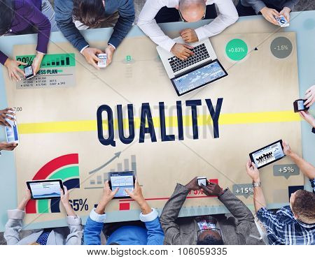 Quality Guarantee Satisfaction Value Stature Concept