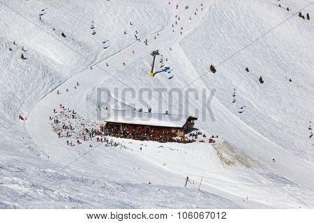 Cafe at mountains - ski resort Bad Gastein Austria