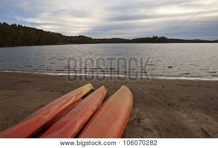 Algonquin Park Muskoka Ontario Red Canoe