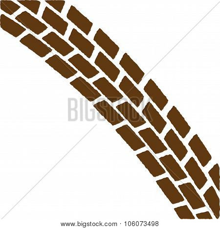Brown Treadmark Arch