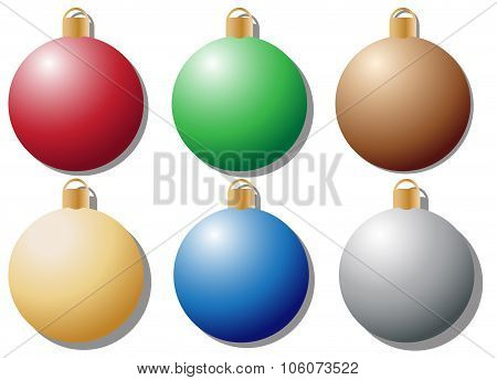 Coloured Baubles