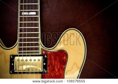 Guitar Body Part And Neck Detail