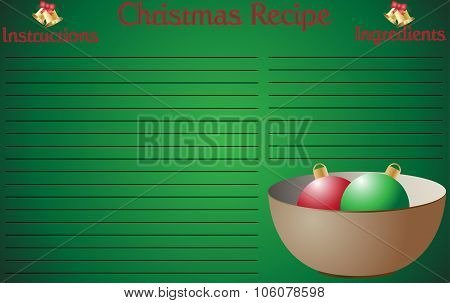 Christmas Recipe Page Bowl