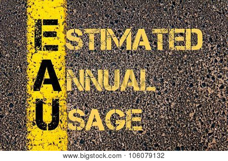 Business Acronym Eau As Estimated Annual Usage