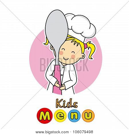 kids menu card