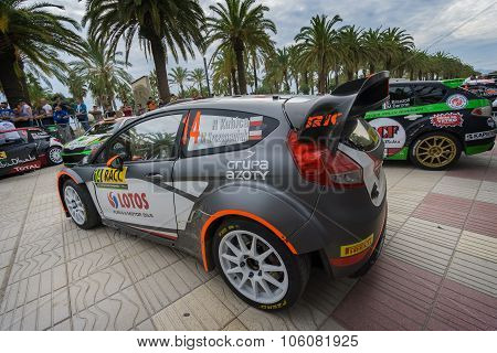 WRC car of the driver Robert Kubica in Salou , Spain