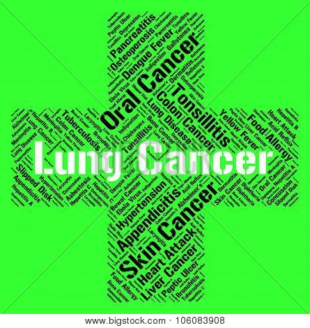 Lung Cancer Means Poor Health And Attack