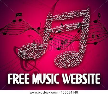 Free Music Website Shows With Our Compliments And Domain