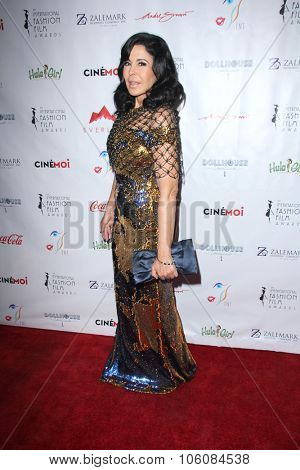 LOS ANGELES - OCT 25:  Maria Conchita Alonso at the Internation Film Fashion Awards at the Saban Theater on October 25, 2015 in Los Angeles, CA