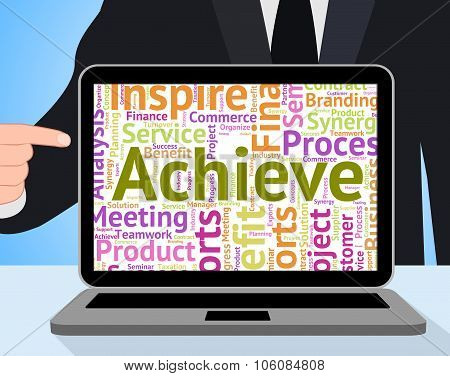 Achieve Word Showing Text Succeed And Success poster