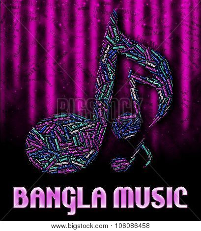 Bangla Music Means Sound Track And Harmony