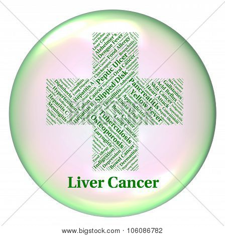 Liver Cancer Represents Poor Health And Attack