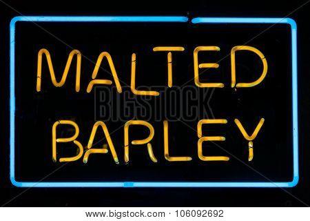 Malted Barley Sign