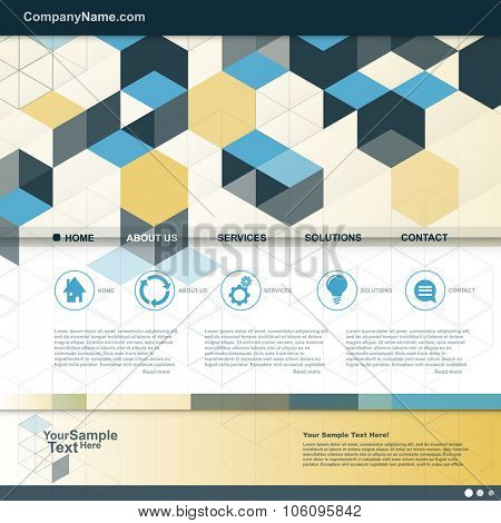 Cube Design website for your Business. vector