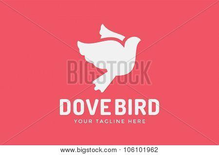 Dove vector logotype. Dove logo. Dove symbol. Bird dove monogram. Peace world bird. Bird vector logo. Dove silhouette logo,Globe union brand logo, care clinic logo, togetherness concept logo.Dove logo