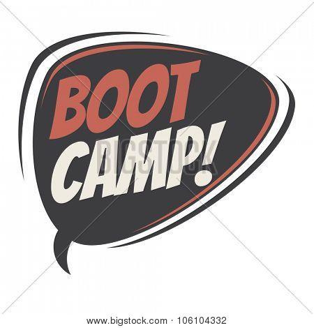 boot camp retro speech bubble
