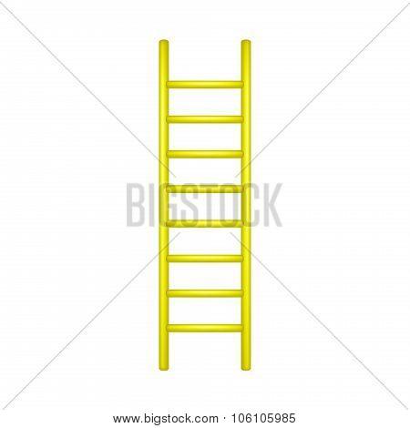 Wooden ladder in yellow design