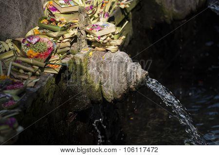 Holy Spring Water Tirta Empul Hindu Temple , Bali Indonesia.