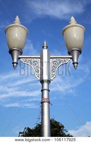 Bangkok Thailand Street Lamp     Temple   Abstract