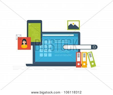 Concepts for business analysis, financial statement, consulting, teamwork, project management