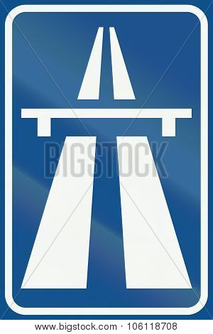 Netherlands Road Sign G1 - Beginning Of Motorway