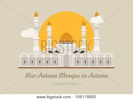 Nur-astana Mosque In Astana , Kazakhstan