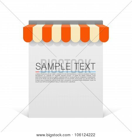 Store striped awning modern banner