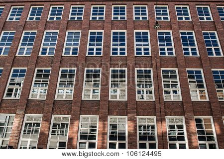 Brick Facade With Large Windows