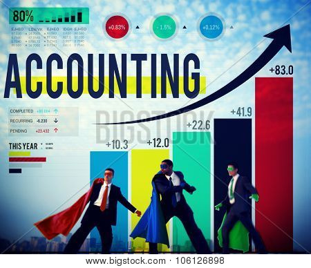 Accounting Financial Bookkeeping Budget Management Concept poster