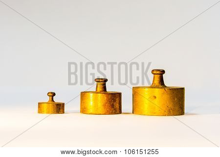 Collection Of Small Golden Calibration Weights