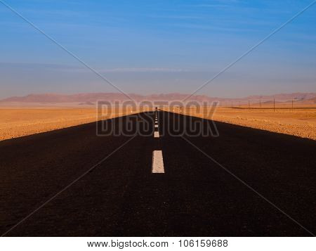 Endless asphalt road