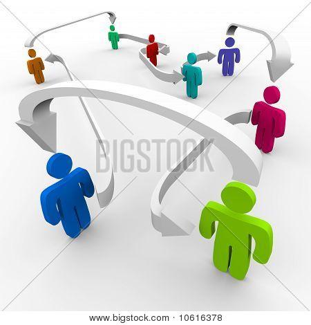 Menschen im Netzwerk angeschlossen