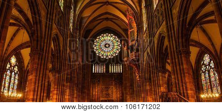 Inside Strasbourg's Cathedral