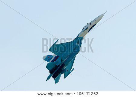 Fighter SU-27 in flight
