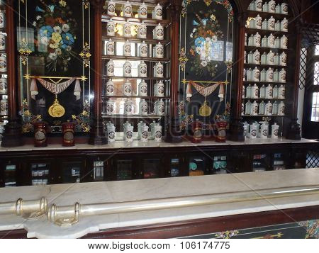 Traditional Pharmacy In Habana