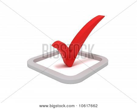 Red check mark