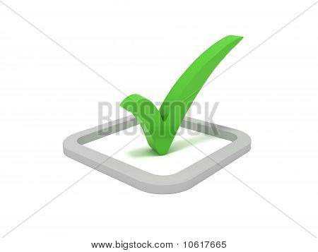 Green check mark sign