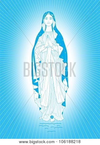The Virgin Mary In Blue