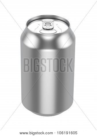 White Metal Aluminum Beverage Drink Can 500ml. Ready For Your Design. poster