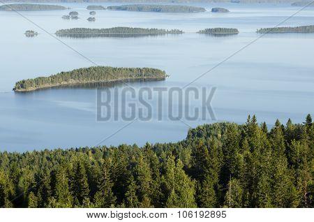 landscape top view Koli National Park Finland