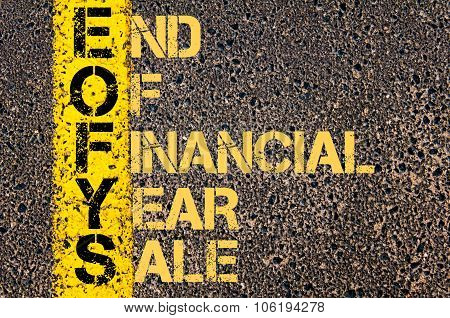 Business Acronym Eofys As End Of Financial Year Sale