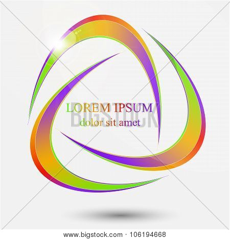 Abstract sphere swirl logo.
