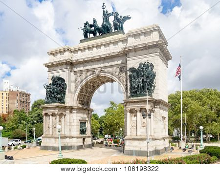 Triumphal Arch at the Grand Army Plaza in Brooklyn, New York City