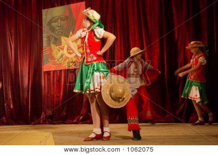Teenagers Perform Traditional Humorous Ukrainian Dance