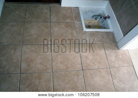 Tile Floor with Artesian Well