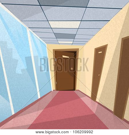 Office Room Doors Corridor Hallway