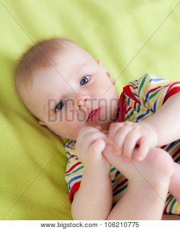 Close up of cute child