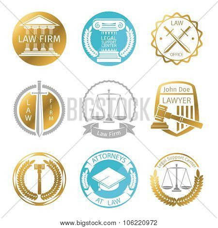Law office logo set